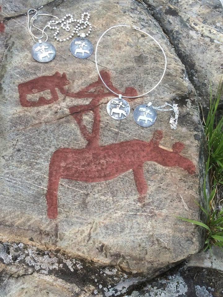 Shamanka med smycken